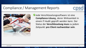 Microsoft BitLocker - Crypto Does und Donts aus der Praxis - Compliance / Management Reports