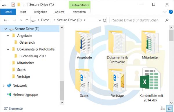 Datenverschlüsselung mit CryptoPro Secure Drive