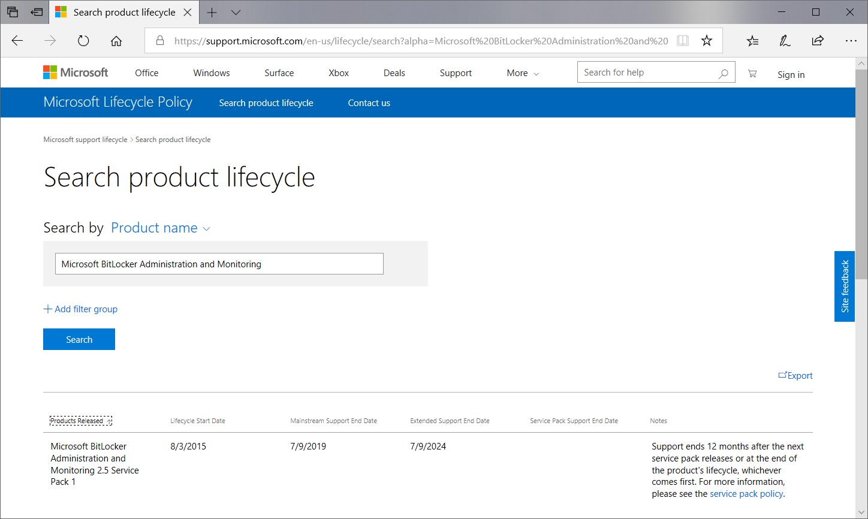 MBAM Abkündigung durch Microsoft Support