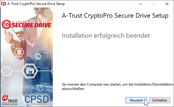 CryptoPro Secure Drive - Setup - Finish