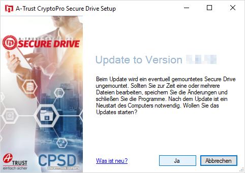 A-Trust CryptoPro Secure Drive - Update installieren