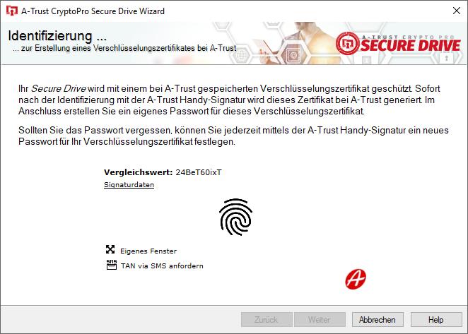 Biometrische Handy-Signatur Benutzeridentifizierung