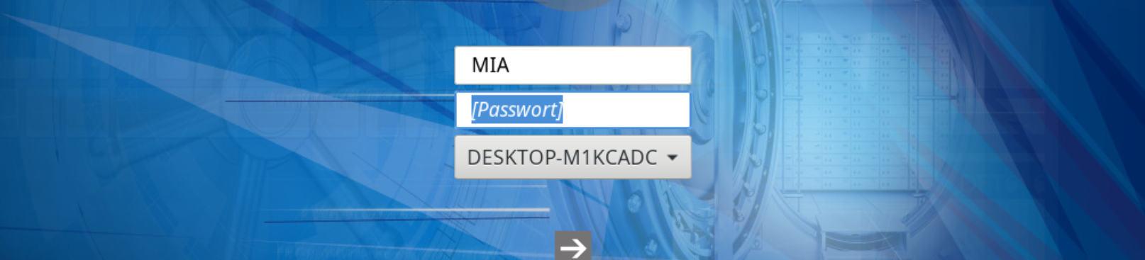 Secure Disk Benutzername - Passwort Authentisierung