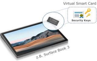 Virtual Smartcard am Microsoft Surface Book 3