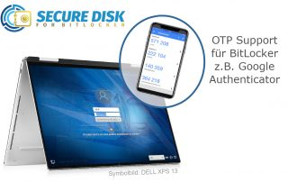 Secure Disk for BitLocker OTP Support mit Google Authenticator