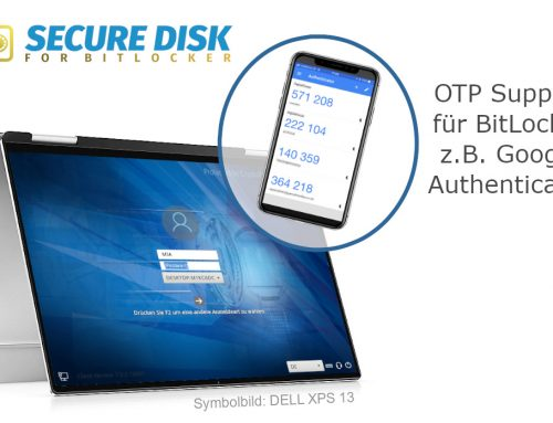 Secure Disk 7.1 — BitLocker Support für OTP Apps, z.B. Google Authenticator