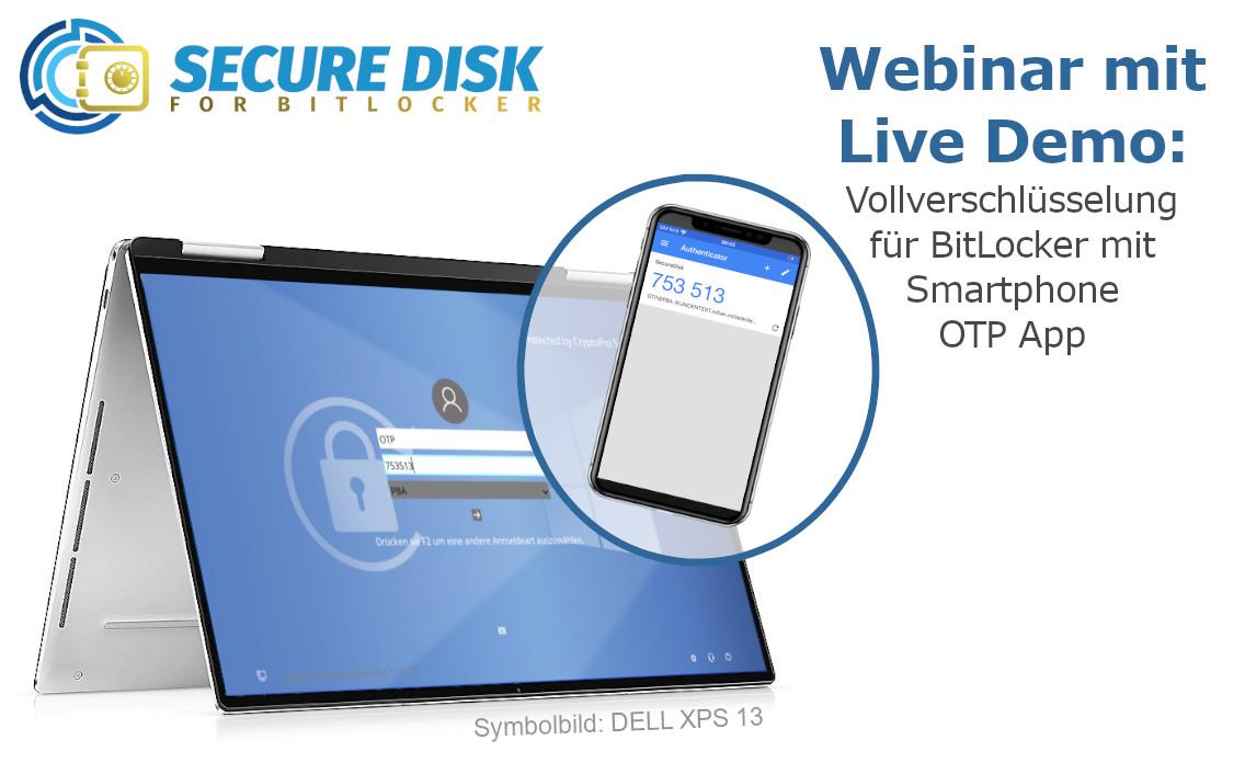 Secure Disk for BitLocker OTP Auth